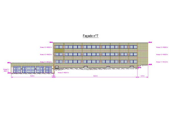 Plan d'une façade