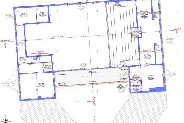 Plan d'intérieur 1er étage