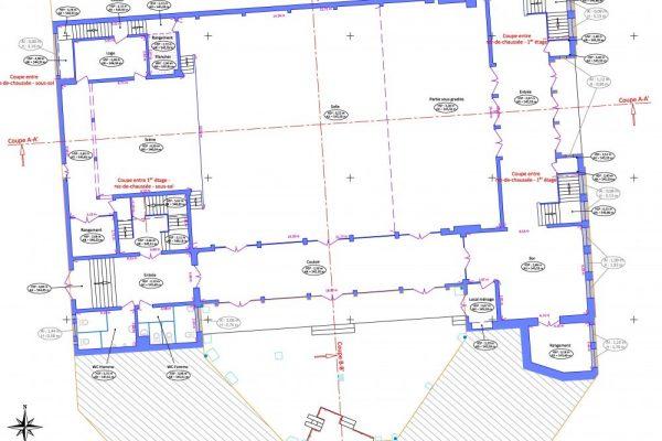 Plan d'intérieur Rez-de-chaussée