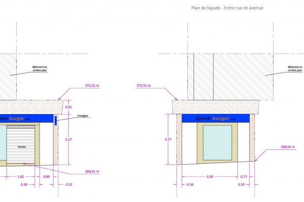 Plan de façades